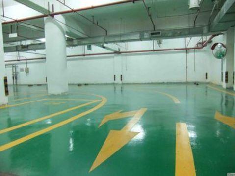 车库坡道的地坪漆施工技巧,沈阳地下停车场地坪